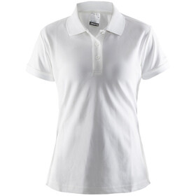 Craft Classic Piqué Poloshirt Dames, white